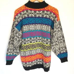 Melizan Sweaters - Vintage High Neck Pullover Sweater 1 Large